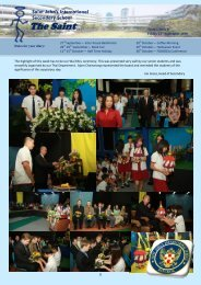 Secondary Newsletters Term 1 Issue 6