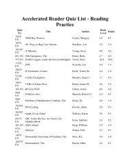 Quiz List 3 0-3 9 Blue - Spanish Lake Elementary School