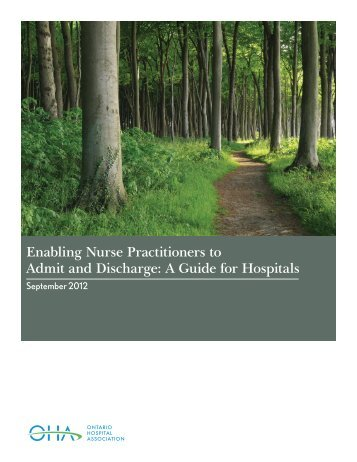 Enabling Nurse Practitioners to Admit and Discharge - Ontario ...