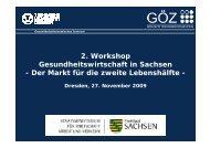 Vortrag Prof. Dr. Karmann - Plattform Gesundheitswirtschaft Sachsen