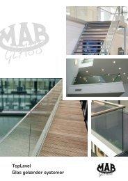 TopLevel Glas gelænder systemer - Mab Glas Skandinavien ApS