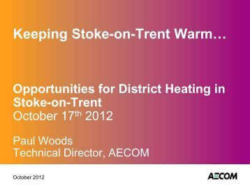 Opportunities for District Heating - Stoke-on-Trent City Council