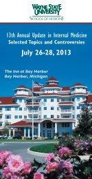 July 26-28, 2013 - Continuing Medical Education - Wayne State ...