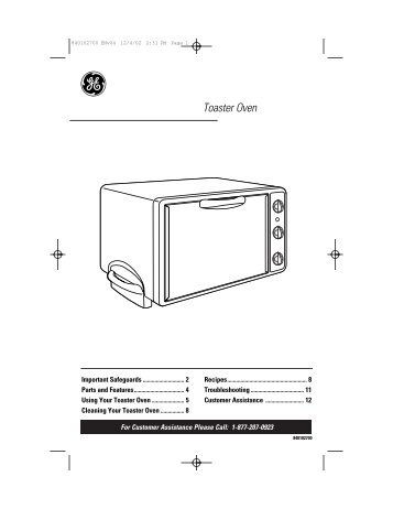 Cleaning Your Toaster Oven - GE :: Housewares
