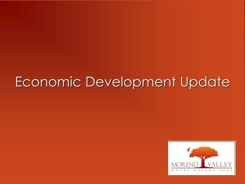 Economic Development Action Plan - City of Moreno Valley