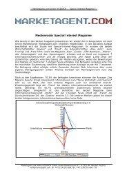 Medienradar Special Interest Magazine - Marketagent.com