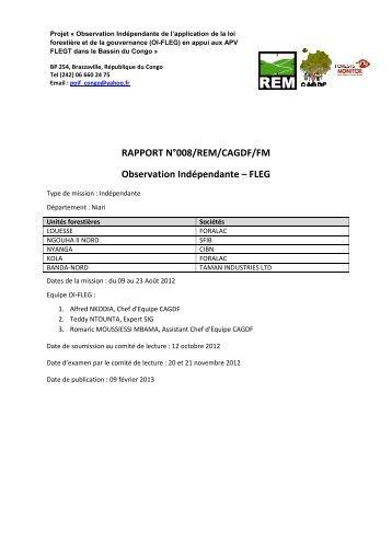 RAPPORT N°008/REM/CAGDF/FM Observation ... - Forests Monitor