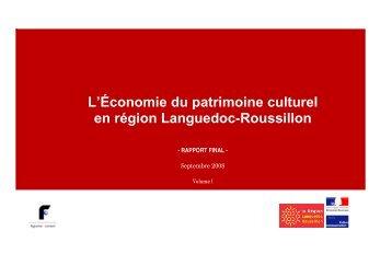 L'Économie du patrimoine culturel en région Languedoc-Roussillon