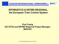 ERTMS/ETCS & ERTMS REGIONAL, the European Train Control ...