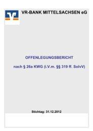 Offenlegungsbericht der VR-Bank Mittelsachsen eG