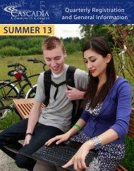 Summer 2013 - Cascadia Community College