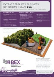 View the BEX 2012 sales brochure here. - Sustainability Live