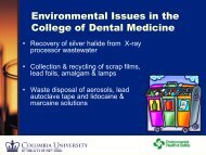 Environmental Issues in the College of Dental Medicine