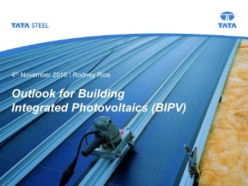 Outlook for Building Integrated Photovoltaics (BIPV) - Dyesol