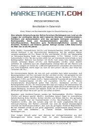 PRESSEINFORMATION Berufsbilder in Österreich - Marketagent.com
