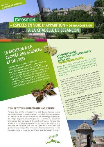 espèCes en voie d'apparition - Musées en Franche-Comté