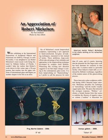 An Appreciation of Robert Mickelsen - Paul J Stankard