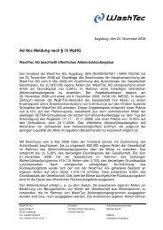 Ad Hoc Meldung nach § 15 WpHG - More.de AG