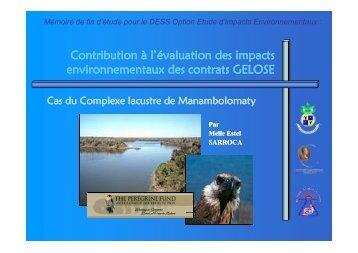 Contribution à l'évaluation des impacts environnementaux des ...