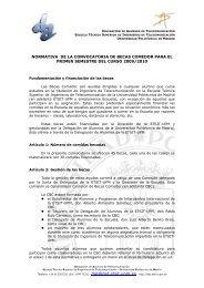 CONVOCATORIA DE 3 BECAS PROM LA UNIVERSIDAD ...