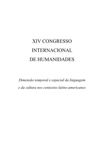 Caderno de Resumos - Décimo Sexto Congresso Internacional de ...