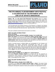 the 5th annual fluid movement arts festival a celebration of the ...