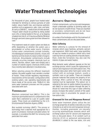 Water Treatment Technologies - WaterSanitationHygiene.org