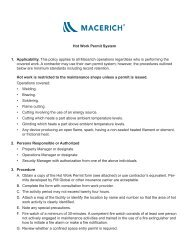 Hot Work Permit System Applicability. 1. This policy ... - Macerich
