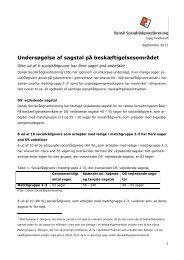 Undersøgelse af sagstal på beskæftigelsesområdet - Dansk ...