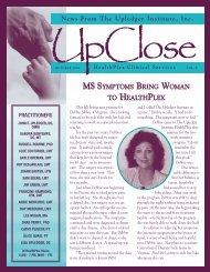 UpClose October 1996 - The Upledger Institute