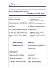 Prozessmanagement-Tool E-IMS - Keller Consulting GmbH
