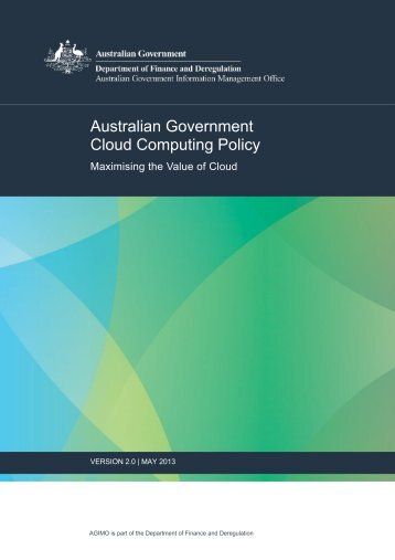 Australian Government Cloud Computing Policy 2.0 - About AGIMO