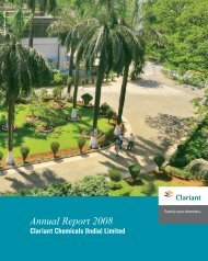 Annual Report 2008 - Clariant