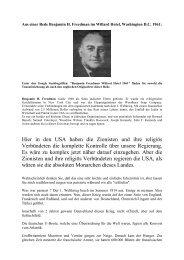 Hier in den USA haben die Zionisten und ihre ... - Teleboom.de