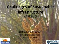 Challenges of Sustainable Infrastructure