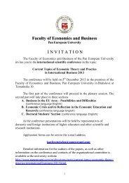 Invitation - Paneurópska vysoká škola