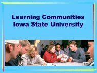 Overview of ISU Learning Communities