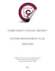 school improvement planning - Cobb County School District