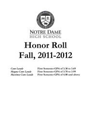 Honor Roll Fall, 2011-2012