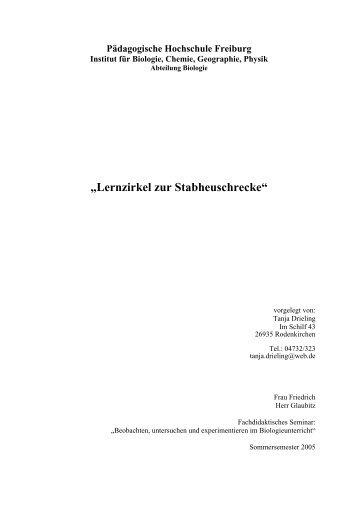 Herkunftsempfehlungen Deckblatt Und Inhaltsverzeichnis Wald