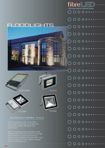 FLOODLIGHTS - FibreLED