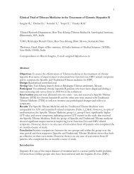 Clinical Trial of Tibetan Medicine in the ... - Men-Tsee-Khang