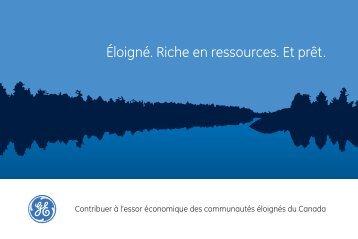 Rapport sommaire Lisez le rapport sommaire de GE, Éloignées ...