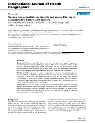 Comparison of spatial scan statistic and spatial filtering in estimating ...