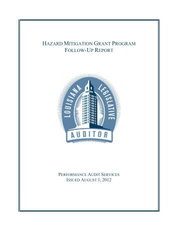 Hazard Mitigation Grant Program Follow-Up Report
