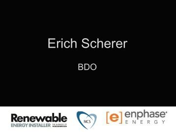 Erich Scherer - Renewable Energy Installer