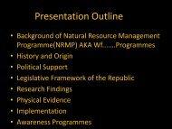 Natural Resources Management Programmes