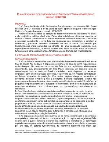Plano de ação política e organizativa