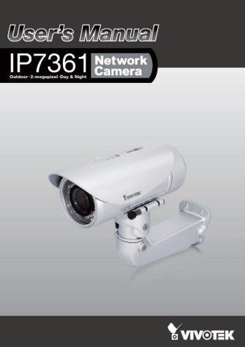 Vivotek IP7361 User Manual - Use-IP