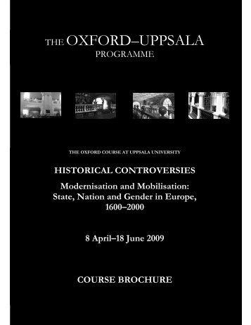 THE OXFORD–UPPSALA - skeptron.uu.se
